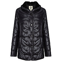 Buy Four Seasons Quilted Moleskin Trim Jacket, Black Online at johnlewis.com