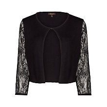 Buy Alexon Laced Sleeve Bolero, Black Online at johnlewis.com