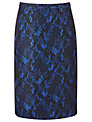 Alexon Bonded Lace Skirt, Blue