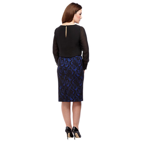 Buy Alexon Bonded Lace Skirt, Blue Online at johnlewis.com