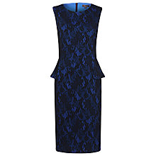 Buy Alexon Bonded Peplum Dress, Blue Online at johnlewis.com