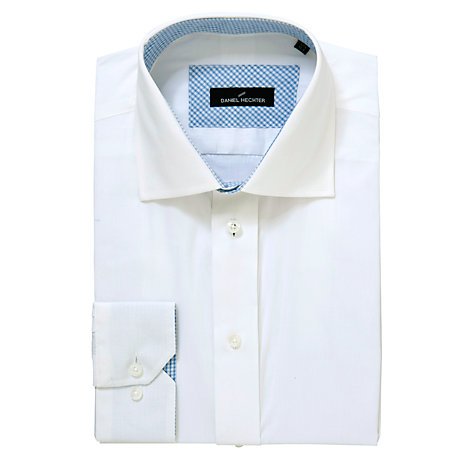 Buy Daniel Hechter Plain Shirt, White Online at johnlewis.com