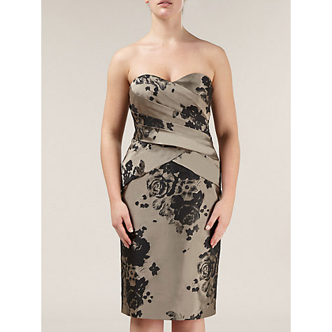 Buy Alexon Estelle Jacquard Dress, Neutral Online at johnlewis.com