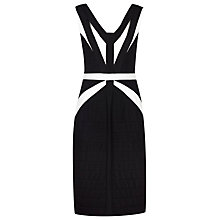 Buy Alexon Contrast Ottoman Dress, Black Online at johnlewis.com