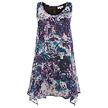 Buy Kaliko Blossom Print Tunic Top, Green Online at johnlewis.com