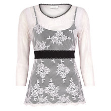 Buy Kaliko Lace Top, Light Pink Online at johnlewis.com