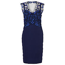 Buy Alexon Lace Top Ottoman Dress, Blue Online at johnlewis.com