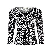 Buy Precis Petite Monochrome Animal Jumper, Multi Online at johnlewis.com