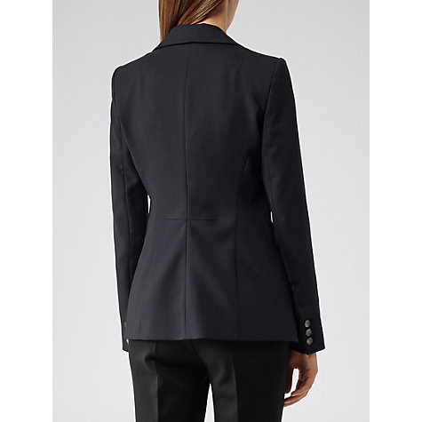 Buy Reiss Beckley Single Breast Fitted Jacket, Navy Online at johnlewis.com