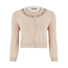 Buy Planet Embellished Neck Cardigan, Neutral Online at johnlewis.com