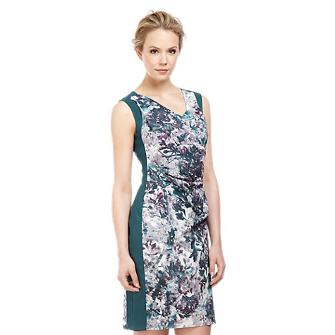 Buy Kaliko Blossom Block Dress, Green Online at johnlewis.com