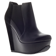 Buy KG by Kurt Geiger Stanley Leather Ankle Boots, Black Online at johnlewis.com