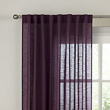 Buy John Lewis Plain Dye Hidden Tab Top Voile Panel Online at johnlewis.com