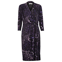 Buy Windsmoor Animal Jersey Dress, Purple Online at johnlewis.com