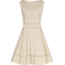 Buy Reiss Mia Fit and Flare Contrast Dress, Nude Online at johnlewis.com