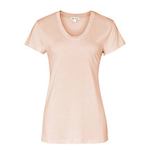 Buy Reiss Basic Crew Neck T-Shirt, Soft Peach Online at johnlewis.com