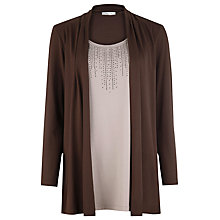 Buy Windsmoor Jersey 2 in 1 Top, Brown/Mink Online at johnlewis.com