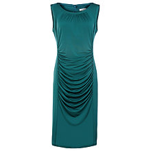 Buy Kaliko Ruched Jersey Dress, Green Online at johnlewis.com