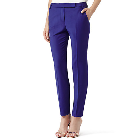 Buy Reiss Joanna Zac Straight Leg Trousers, Cobalt Online at johnlewis.com