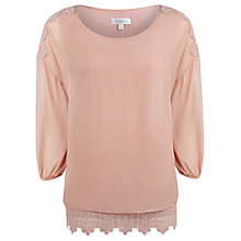 Buy Kaliko Silk Lace Top, Pink Online at johnlewis.com