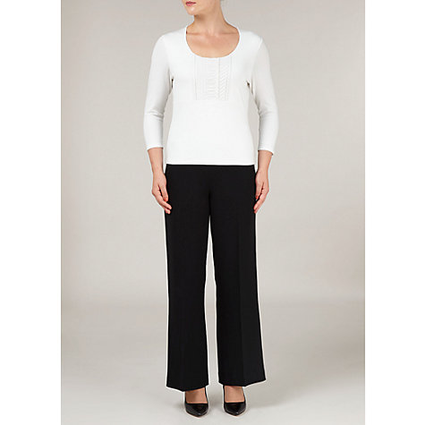 Buy Precis Petite Pleat Detail Top, Ivory Online at johnlewis.com