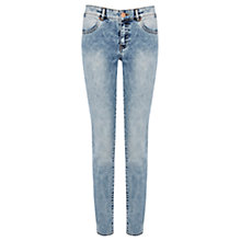 Buy Warehouse Random Wash Skinny Jeans, Denim Online at johnlewis.com
