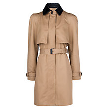 Buy Mango Leather Applique Trench Coat, Medium Brown Online at johnlewis.com
