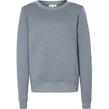 Buy Reiss Rosa Quilted Jumper, Silver Grey Online at johnlewis.com