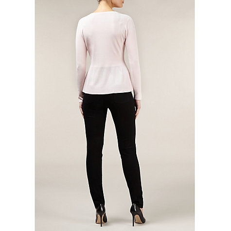 Buy Kaliko Peplum Cardigan, Pink Online at johnlewis.com
