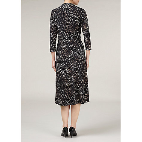 Buy Windsmoor Animal Print Jersey Dress, Black Online at johnlewis.com