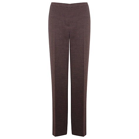 Buy Windsmoor Tailored Trousers, Chocolate Online at johnlewis.com