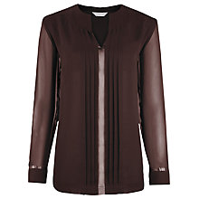 Buy Windsmoor Pleated Tunic Top, Chocolate Online at johnlewis.com