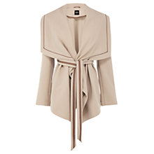 Buy Oasis Short Drape Coat, Mid Neutral Online at johnlewis.com