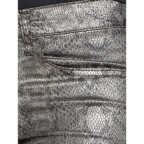 Buy Mango Snake Print Jeans, Dark Grey Online at johnlewis.com