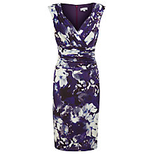 Buy Kaliko Wrap Pleated Lana Print Dress, Purple Online at johnlewis.com