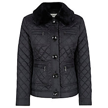 Buy Precis Petite Quilted Coat, Black Online at johnlewis.com