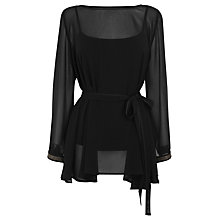 Buy Coast Domingo Tunic Top, Black Online at johnlewis.com