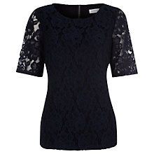 Buy Kaliko Lace Tee, Blue Online at johnlewis.com