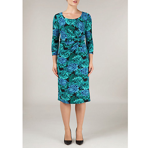 Buy Precis Petite Bright Floral Print Dress, Blue Multi Online at johnlewis.com