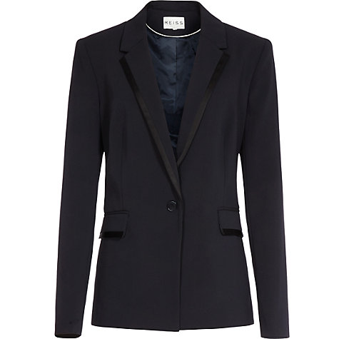 Buy Reiss Sienna Contrast Lapel Blazer, Navy Online at johnlewis.com