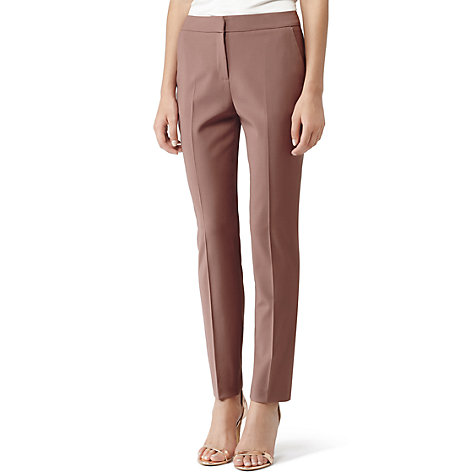 Buy Reiss Candy Oak Straight Leg Trousers, Cherry Online at johnlewis.com