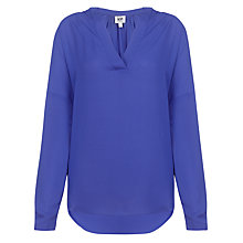 Buy Kin by John Lewis Gathered Shoulder Shirt, Cobalt Online at johnlewis.com