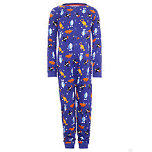 Buy Kids Company Penguin Reindeer Onesie, Blue/Multi Online at johnlewis.com
