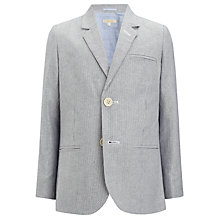 Buy John Lewis Heirloom Collection Boys' Ticking Stripe Jacket, Blue Online at johnlewis.com