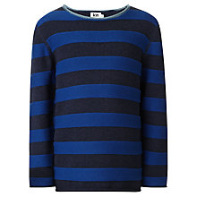 Buy Kin by John Lewis Boys' Tonal Stripe Crew Neck Jumper, Blue/Navy Online at johnlewis.com