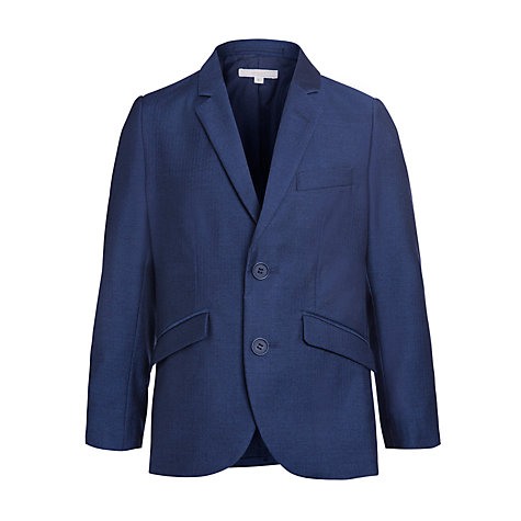 Buy John Lewis Heirloom Collection Boys' Herringbone Jacket, Blue Online at johnlewis.com