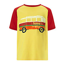 Buy John Lewis Boy Camper Van T-Shirt, Yellow/Red Online at johnlewis.com