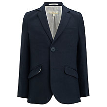 Buy John Lewis Heirloom Collection Boys' Linen Blend Blazer, Navy Online at johnlewis.com