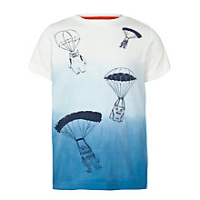 Buy John Lewis Boy Dip Dye Alien Print T-Shirt, Blue/Cream Online at johnlewis.com