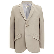 Buy John Lewis Heirloom Collection Boys' Linen Blend Blazer, Stone Online at johnlewis.com